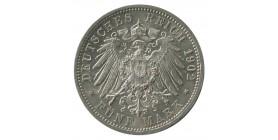 5 Marks Frederic Ier - Allemagne Bade Argent