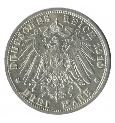 3 Marks - Allemagne Saxe Weimar Eisenach Argent