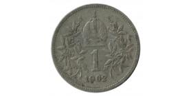 1 Couronne François Joseph Ier Tête Laurée - Autriche Argent