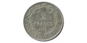 2 Francs Albert Ier Légende Française - Belgique Argent