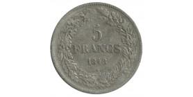 5 Francs Leopold Ier Tête Laurée