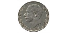 1 Peseta Alphonse XII - Espagne Argent