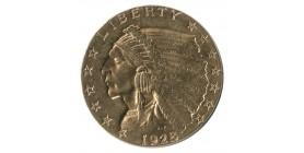 2 1/2 Dollars Indien - Etats-Unis