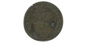 Jeton Ordinaire des Guerres Trésorier Paparel Louis XIV en Laiton
