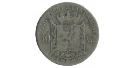 50 Centimes Leopold II Légende Flamande - Belgique Argent