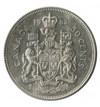 50 Cents Elisabeth II - Canada Argent