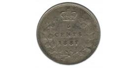 5 Cents Victoria - Canada Argent