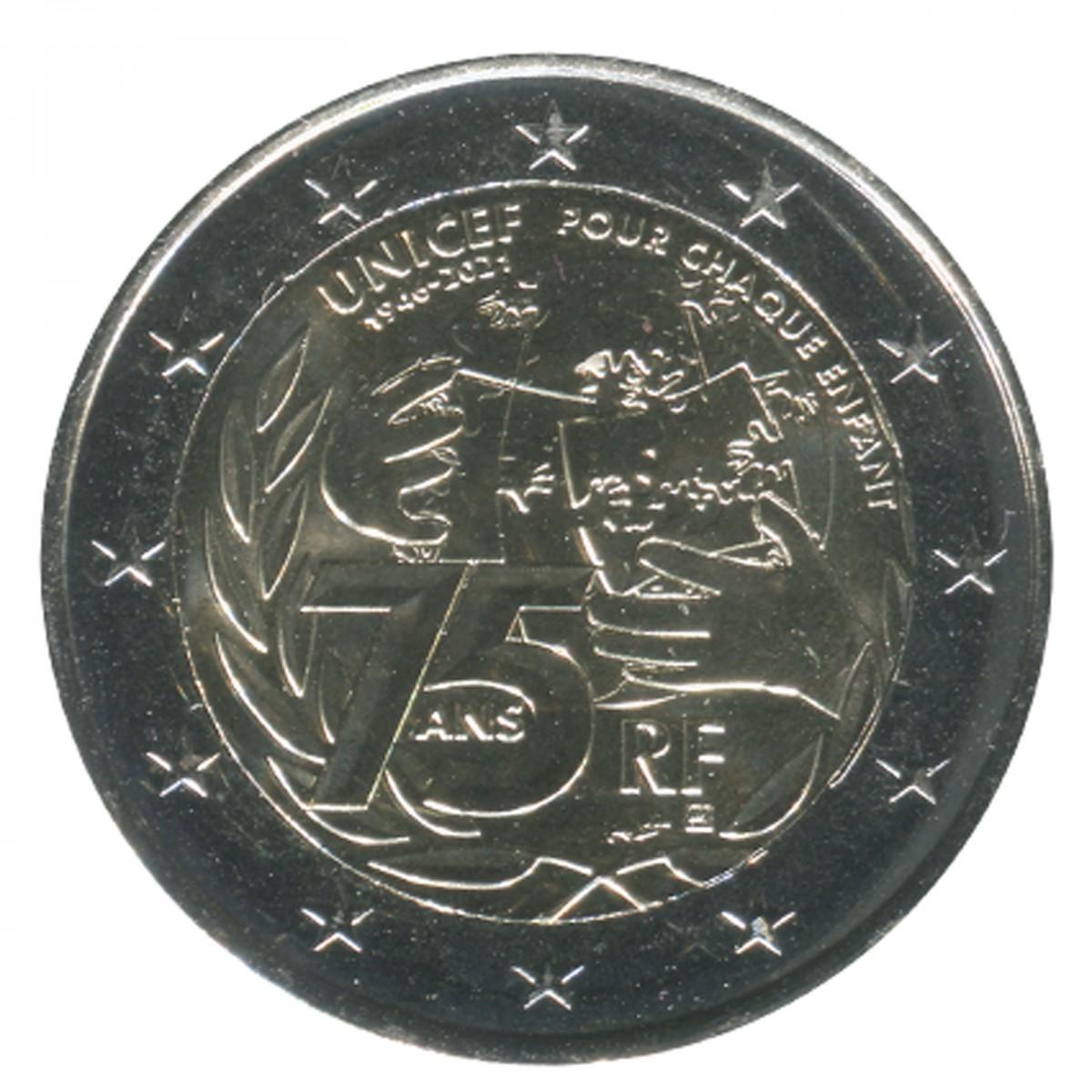 2 euro coin france 2021
