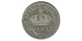 50 Centimes Napoléon III Tête Laurée