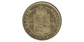 4 Forint / 10 Francs François Joseph Ier - Hongrie