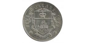 5 Dollars Elisabeth II - Bahamas Argent