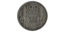 100 Leva Boris III - Bulgarie Argent