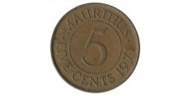 5 Cents Elisabeth II - Ile Maurice