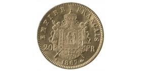 20 Francs Napoléon III Tête Laurée