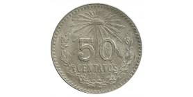 50 Centavos Mexique Argent
