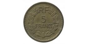 5 Francs Lavrillier Bronze Aluminium Gouvernement Provisoire