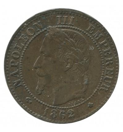 2 Centimes Napoléon III Tête Laurée