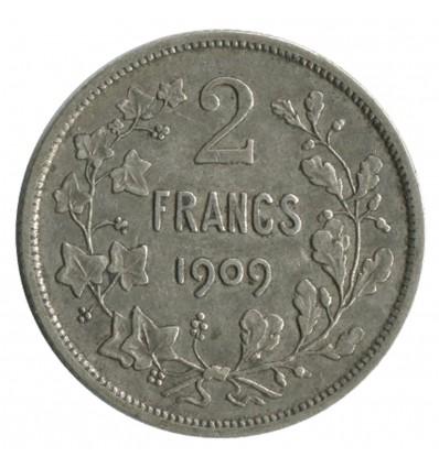 2 Francs Leopold II Légende Française - Belgique Argent