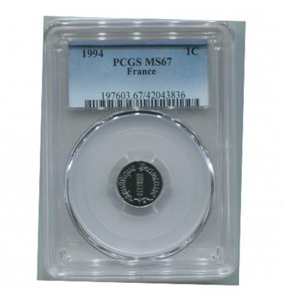 1 Centime Epi 1994 - PCGS MS67