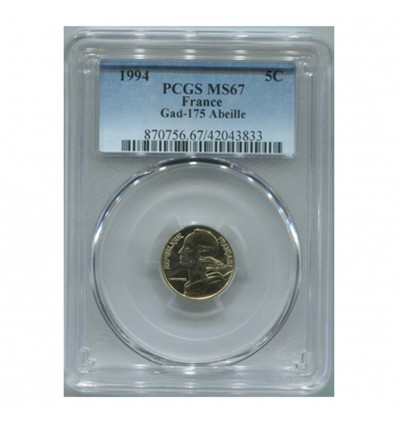 5 Centimes Lagriffoul 1994 - PCGS MS67