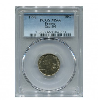 10 Centimes Lagriffoul 1998 - PCGS MS66
