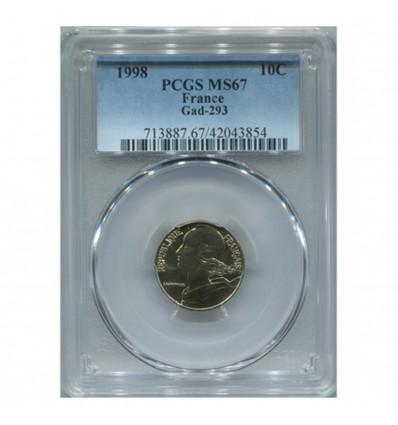 10 Centimes Lagriffoul 1998 - PCGS MS67