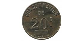 20 Centimes de Consommation La Roulette de l'Avenir E.G. Paris