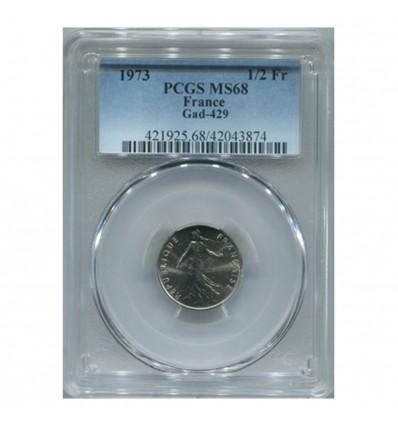 1/2 Franc Semeuse 1973 - PCGS MS68