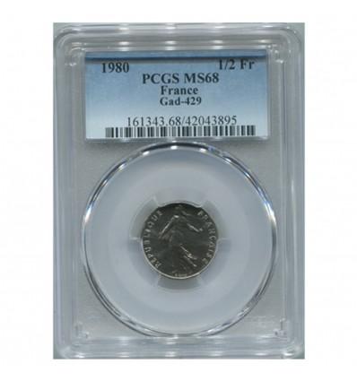 1/2 Franc Semeuse - PCGS MS68
