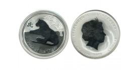1 Dollar Elisabeth II Australie Argent
