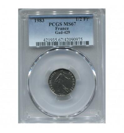 1/2 Franc Semeuse - PCGS MS67