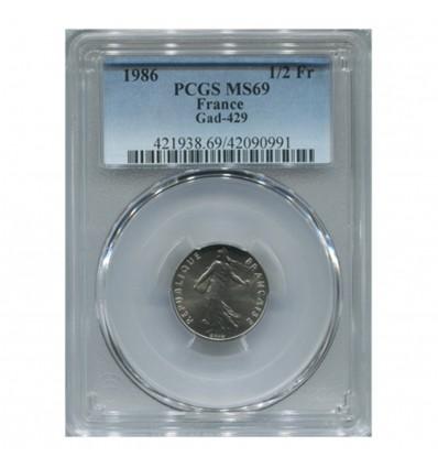1/2 Franc Semeuse - PCGS MS69