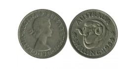 1 Shilling Elisabeth II Australie Argent