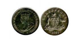 3 Pence Georges V Australie Argent