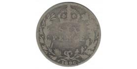 6 Pence Victoria - Grande Bretagne Argent