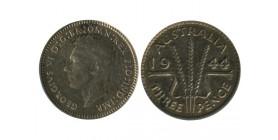 3 Pence Georges VI Australie Argent
