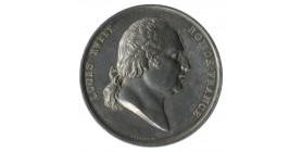 Médaille Argent Louis XVIII