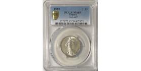 1 Franc Semeuse 1919 - PCGS MS65