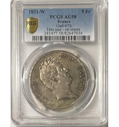 5 Francs Louis Philippe Ier 1831 W - PCGS AU58