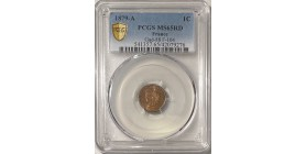 1 Centime Cérès 1879 A - PCGS MS65RD