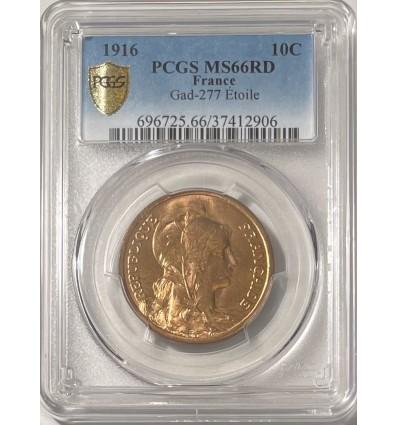 10 Centimes Dupuis 1916 Etoile - PCGS MS66RD