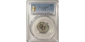 10 Centimes Lindauer 1937 - PCGS MS67