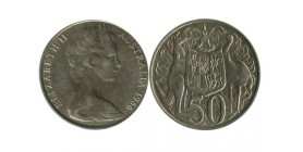 50 Cents Elisabeth II Australie Argent