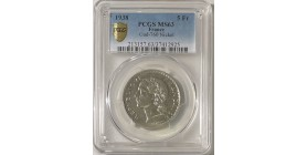 5 Francs Lavrillier Nickel 1938 - PCGS MS63