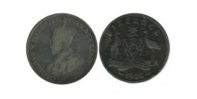 6 Pence Georges V Australie Argent