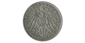 3 Marks Frederic Auguste III - Allemagne Saxe-Albertine Argent