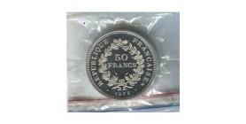 50 Francs Hercule Piéfort Argent