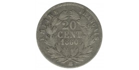 20 Centimes Napoléon III Tête Nue Second Empire
