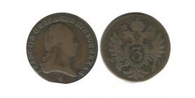 3 Kreuzer Francois II Autriche