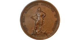Médaille Louis XIV debout terrassant l'hérésie